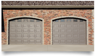 Raised Panel Glass Garage Doors in Denver, CO