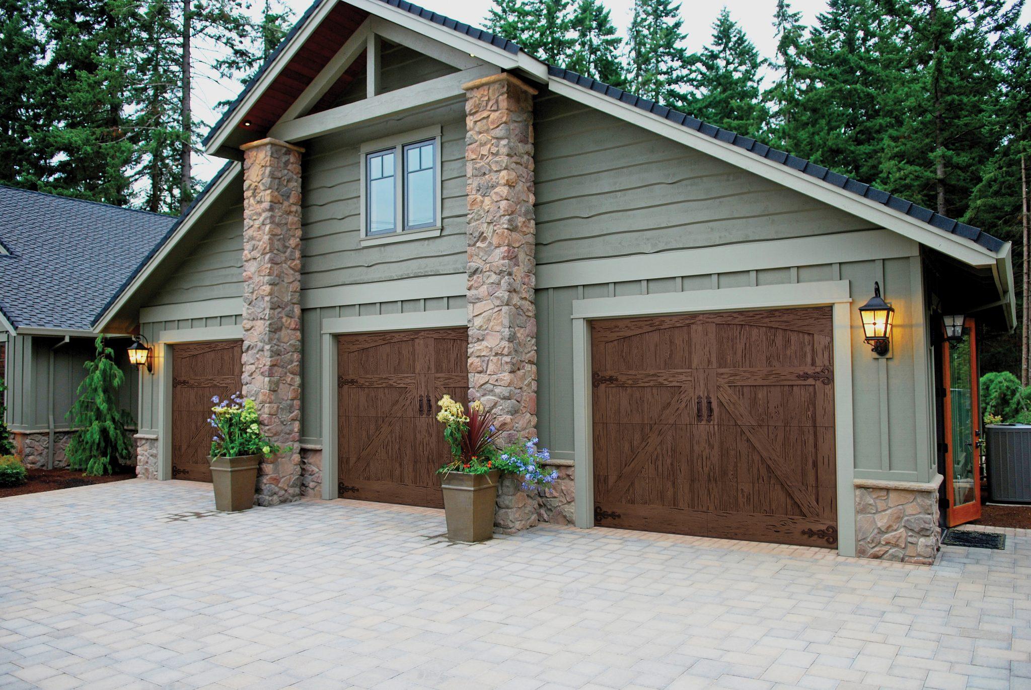 Faux wood garage door sales and installation in englewood for A authentic garage door