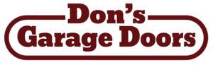 Don's Garage Doors, Sales & Service Logo